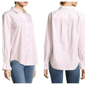 FRAME DENIM Bell Sleeve Stripe Button Down Top HH3